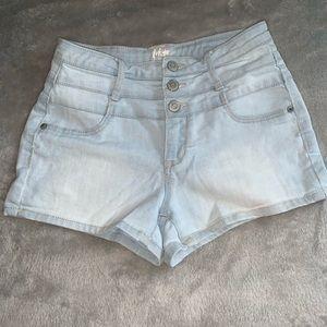 Light Wash High Waisted Aeropostale Shorts